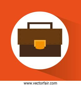 Suitcase of office and work design