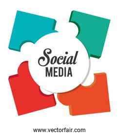 Puzzle and social media design