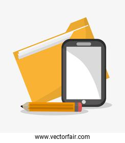 File smartphone and document design