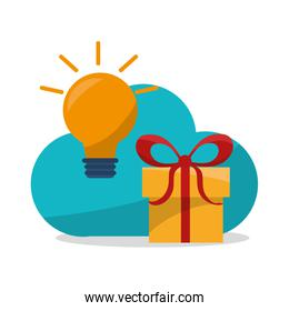 Gift bulb cloud and shopping design