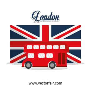 Isolated Bus and flag design
