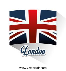 Isolated flag and london design