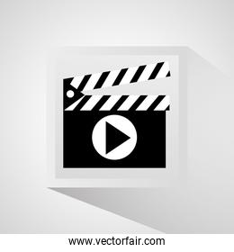 Clapboard and movie design