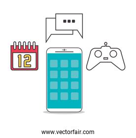 Smartphone and apps icon set design