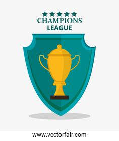 Isolated gold trophy cup design