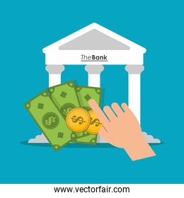 Bank money and payment and shopping design