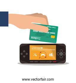 Videogame payment and shopping design