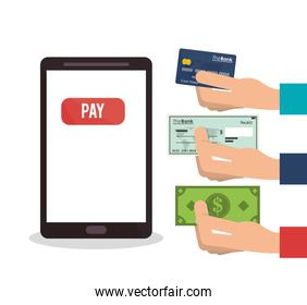 Smartphone payment and shopping design