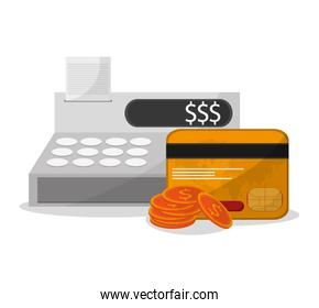Cash register and shopping online design