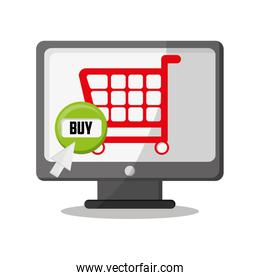 Cart computer and shopping online design