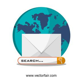 Envelope search and social media design