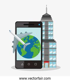 Smartphone planet and airplane design