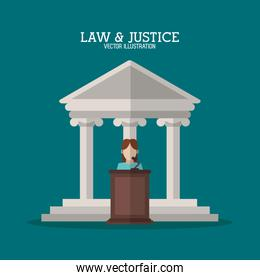 Building and witness of law and justice design