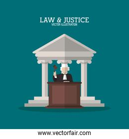 Building and judge of law and justice design