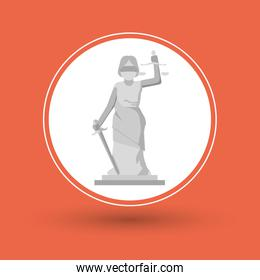 Statue of law and justice design