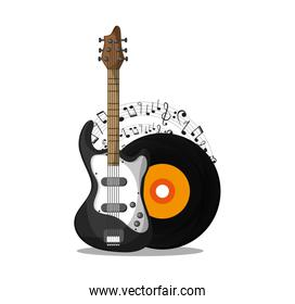 Vinyl and guitar  instrument and music design