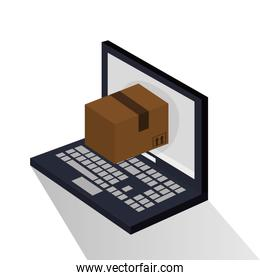 Package and laptop of delivery design