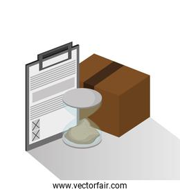 Package and checklist of delivery design