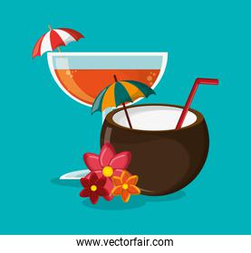 Cocktail of summer and vacation design
