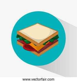 Sandwich of fast food concept