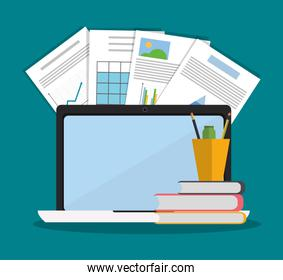 Laptop office and business design