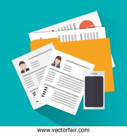 Document of human resources concept