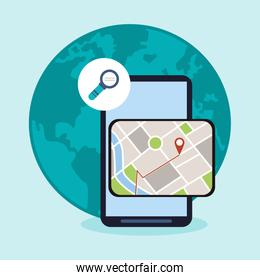 Smartphone and gps map design