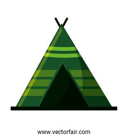 Isolated tent for camping design