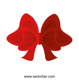 Isolated red bowtie design