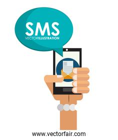 Isolated smartphone and sms design