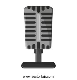 Isolated microphone of music concept illustration