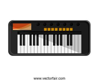 piano instrument isolated icon
