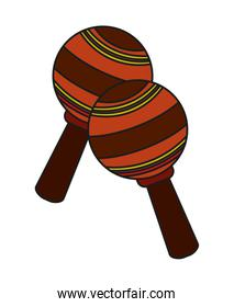 Isolated maraca instrument design