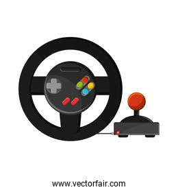 Isolated videogame wheel design