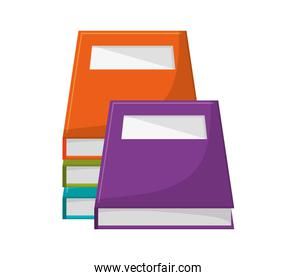 Isolated books design