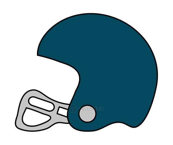 Isolated helmet of american football design