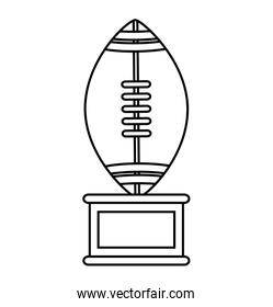Isolated trophy of american football design
