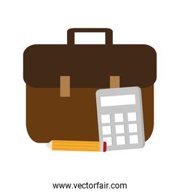 Isolated suitcase and digital marketing design