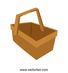 Isolated basket of picnic design