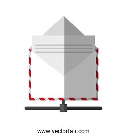Isolated email envelope design