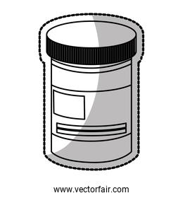 Isolated medicine jar design