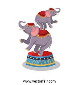 Elephant of circus and carnival design