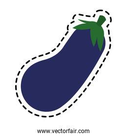 Isolated eggplant design