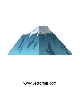 Isolated mountain of china design