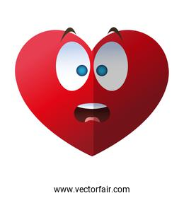 Isolated heart cartoon design