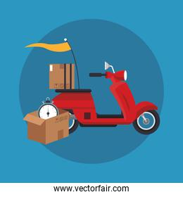 Box and motorcycle of delivery concept design