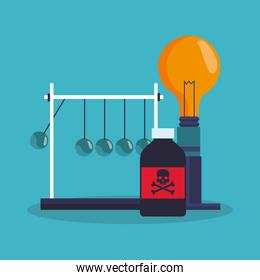 Colorful Bulb and laboratory design
