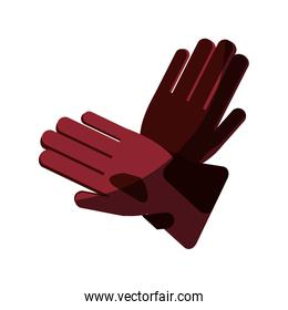 Glove of winter cloth isolated icon