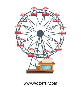 Isolated ferris wheel design