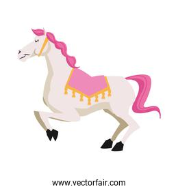 Isolated carnival horse design